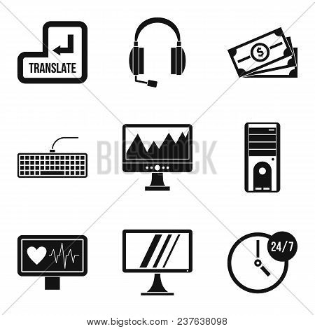 Wireless Application Icons Set. Simple Set Of 9 Wireless Application Vector Icons For Web Isolated O
