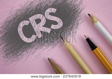 Text Sign Showing Crs. Conceptual Photo Common Reporting Standard For Sharing Tax Financial Informat