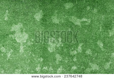 Old Dirty Cardboard Surface In Green Tone. Abstract Background And Texture For Design And Ideas.