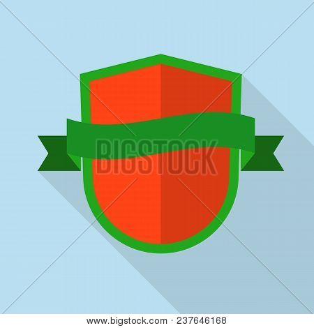 Knight Shield Icon. Flat Illustration Of Knight Shield Vector Icon For Web