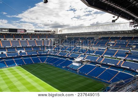 Madrid, Spain - May 14, 2009: Santiago Bernabeu Stadium Of Real Madrid On May 14, 2009 In Madrid, Sp