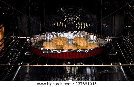 Meat On Foil In The Oven, Cooking And Baking, Food