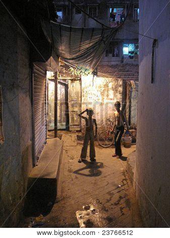Streets Of Kolkata. People Live On The Streets