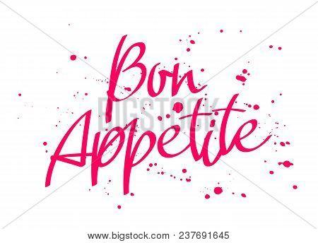 Bon Appetit Italian Vector Photo Free Trial Bigstock