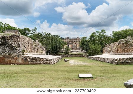 The Nunnery Quadrangle Is The Wes Side Of The Pyrimid Of The Magician, The Site Is Most Representati