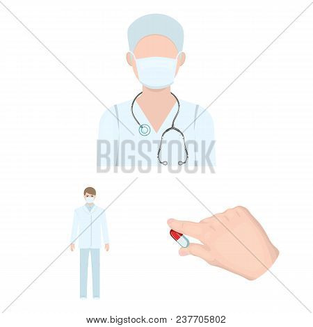 Medicine And Treatment Cartoon Icons In Set Collection For Design.hospital And Equipment Vector Symb