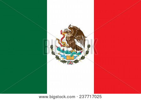 Mexico Flag Vector Illustration. Mexico Flag. National Flag Of Mexico.