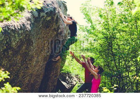 Climbing In Nature.