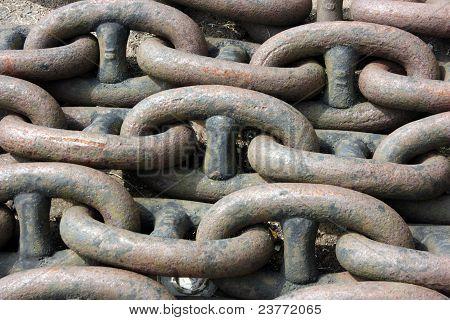 Rusty Anchor Chain Links