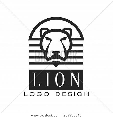Lion Logo, Design Element For Poster, Banner, Embem, Badge, T Shirt Print, Classic Vintage Style Vec
