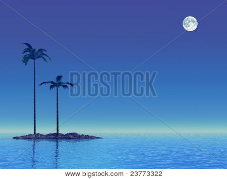 Twilight At Tropical Sea