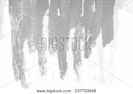 Black Halftone Abstract Background. Monochrome Overlaying Vector Background