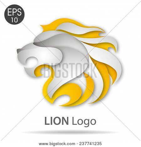 Lion Head Logo. Stock Vector Illustration For Your Design