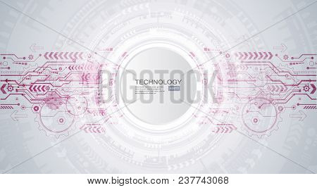 Abstract Technological Background With Various Technological Elements. Structure Pattern Technology