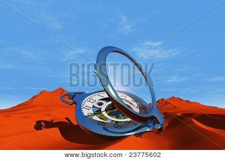 The old clock in the desert.