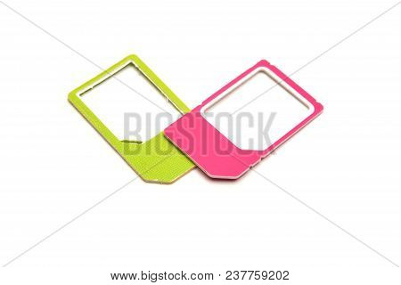 Micro Nano Sim Card Adapter Isolated On White