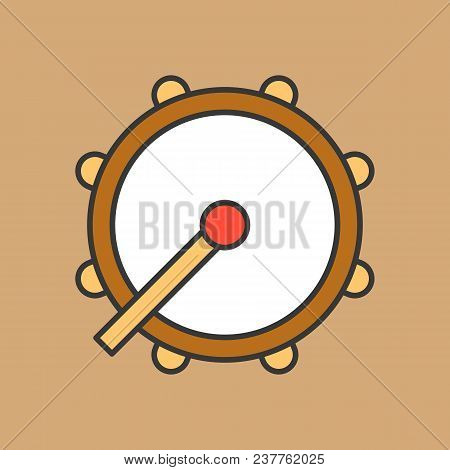 Drum, Ramadan Drum Icon Filled Outline Style