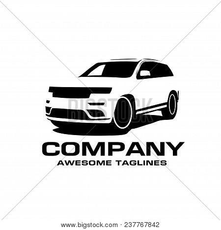 Vector Car Silhouette Logo, Silhouette Of Suv Car Style Vector, Auto Car Logo Concept, Car Shop Logo