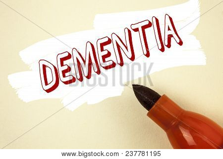 Handwriting Text Writing Dementia. Concept Meaning Long Term Memory Loss Sign And Symptoms Made Me R