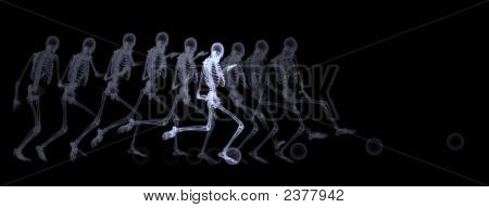 Xray Of Human Skeleton Playing Soccer