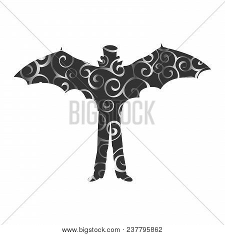 Vampire Tale Pattern Silhouette Holiday Halloween. Vector Illustration.