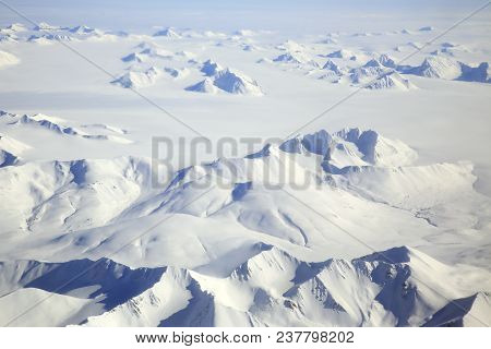 Svalbard Arctic Landscape, An Aerial View, Norway