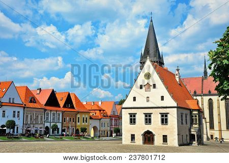 Bardejov Square, Slovakian Beautiful Unesco Town, Slovakia.
