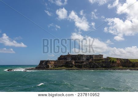 The Old Fort El Morro In Old San Jaun Puerto Rico From The Sea