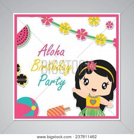 Cute Aloha Birthday Vector Photo Free Trial Bigstock