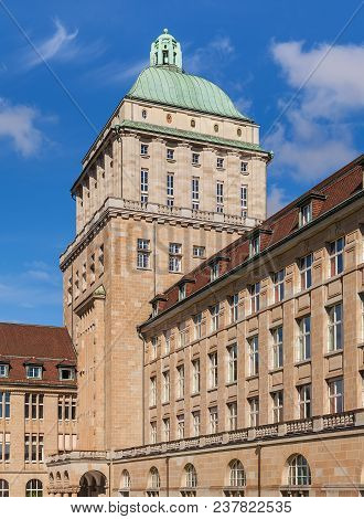 Zurich, Switzerland - 13 October, 2013: Partial View Of The Main Building Of The University Of Zuric