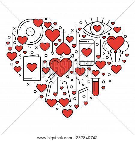 Heart Love Symbols Vector Photo Free Trial Bigstock