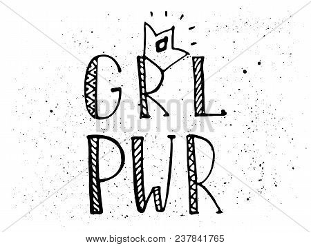 Girl Power Black Vector Photo Free Trial Bigstock