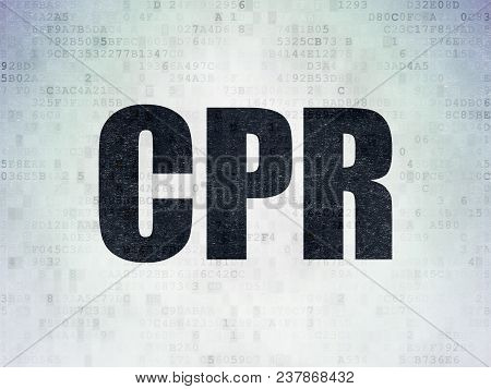 Medicine Concept: Painted Black Word Cpr On Digital Data Paper Background
