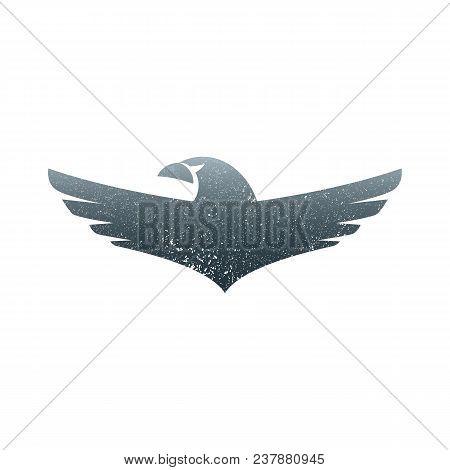 Eagle soaring rising Wings Logo design vector template. Luxury corporate heraldic flying Falcon Phoenix Hawk bird Logotype concept icon. poster