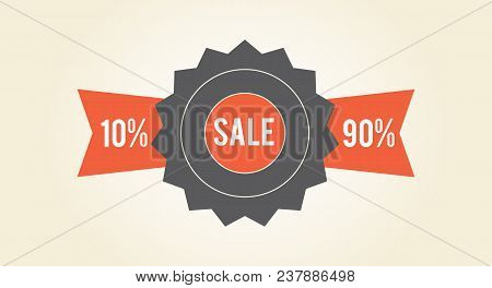Sale Clearance Colorful Tag Isolated On White Background. Vector Illustration Decorative Sign With H