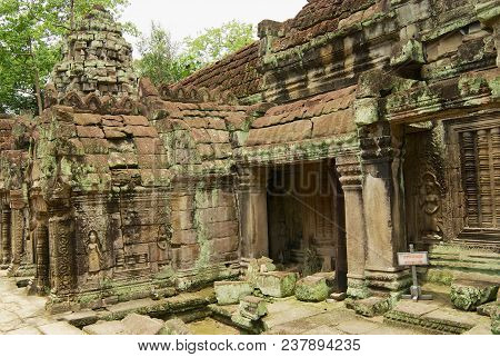 Siem Reap, Cambodia - August 09, 2008: View To The Ruins Of The Preah Khan Temple In Siem Reap, Camb