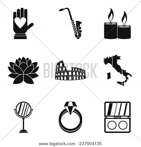 Getting Married Icons Set. Simple Set Of 9 Getting Married Vector Icons For Web Isolated On White Ba