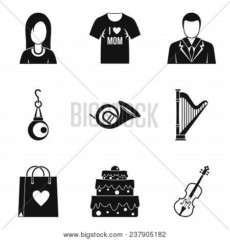 Marry Icons Set. Simple Set Of 9 Marry Vector Icons For Web Isolated On White Background