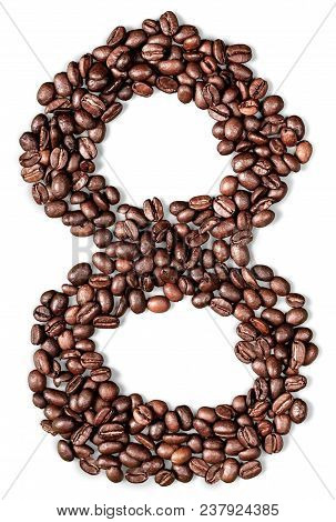 Isolated caffeine coffee brown sign symbol bean poster