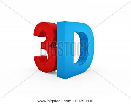 Blue 3D Symbol