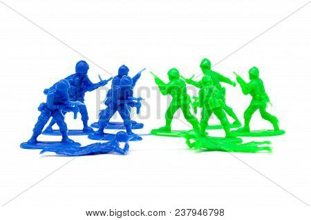 miniature toy soldiers to attack the enemy poster