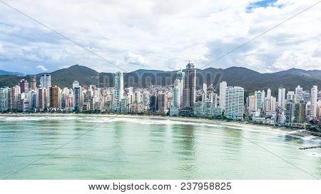 Balneario Camboriu, Santa Catarina, Brazil. Aerial View Of The Beach Of Love.