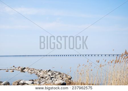 The Oland Bridge Crossing A Strait In The Baltic Sea And Connects The Island Oland With Mainland Swe