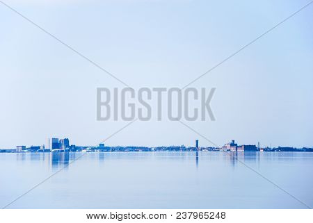 Skyline From The Swedish City Of Kalmar - An Old Medieval Town Located By The Baltic Sea