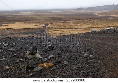 The Scenic Landscape Of The Southern Peninsula In Iceland
