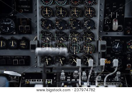 Inside The Cockpit Of A Military Airplane