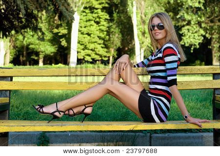 Leggy Young Blonde