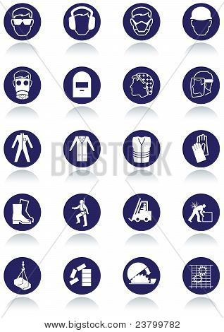 International communication signs for workplaces.