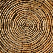Wicker basket bottom. Natural material texture. background. poster