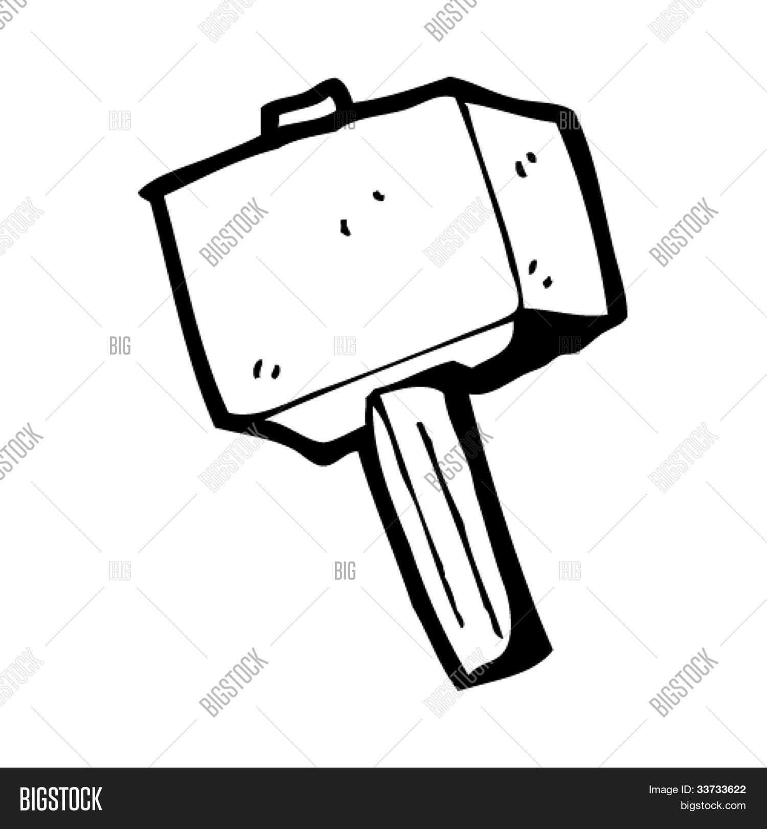 cartoon hammer thor vector photo bigstock